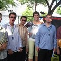 Nuphunk Orchestra backstage at the 2008 Winnipeg Jazz Festival